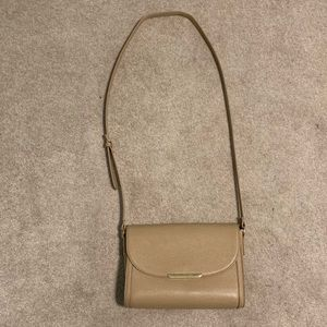 Forever 21 Nude Crossbody Bag with Gold Hardware